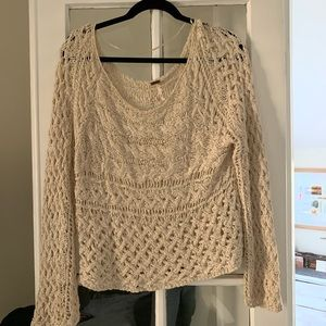 Free People Knit Oversized Sweater